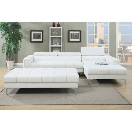 Fabulous Poundex Bobkona Hayden Sectional Home Decor Tufted Gmtry Best Dining Table And Chair Ideas Images Gmtryco