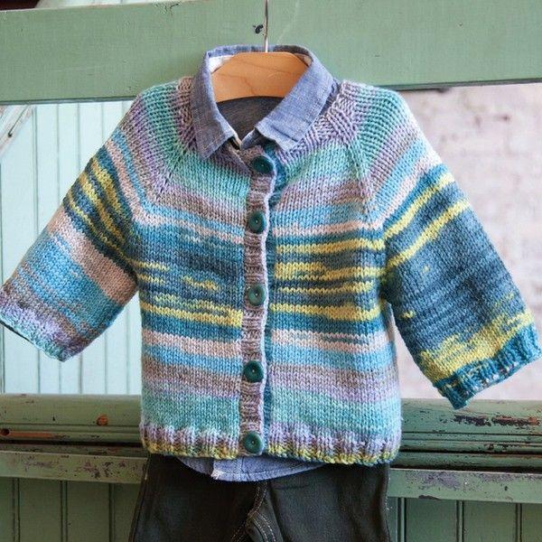 Classic Elite Liberty Wool Easy Baby Cardigan Knitting Pattern PDF ...