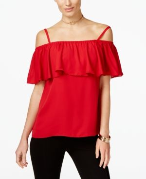 3270f98039ab7 Inc International Concepts Ruffled Off-The-Shoulder Top