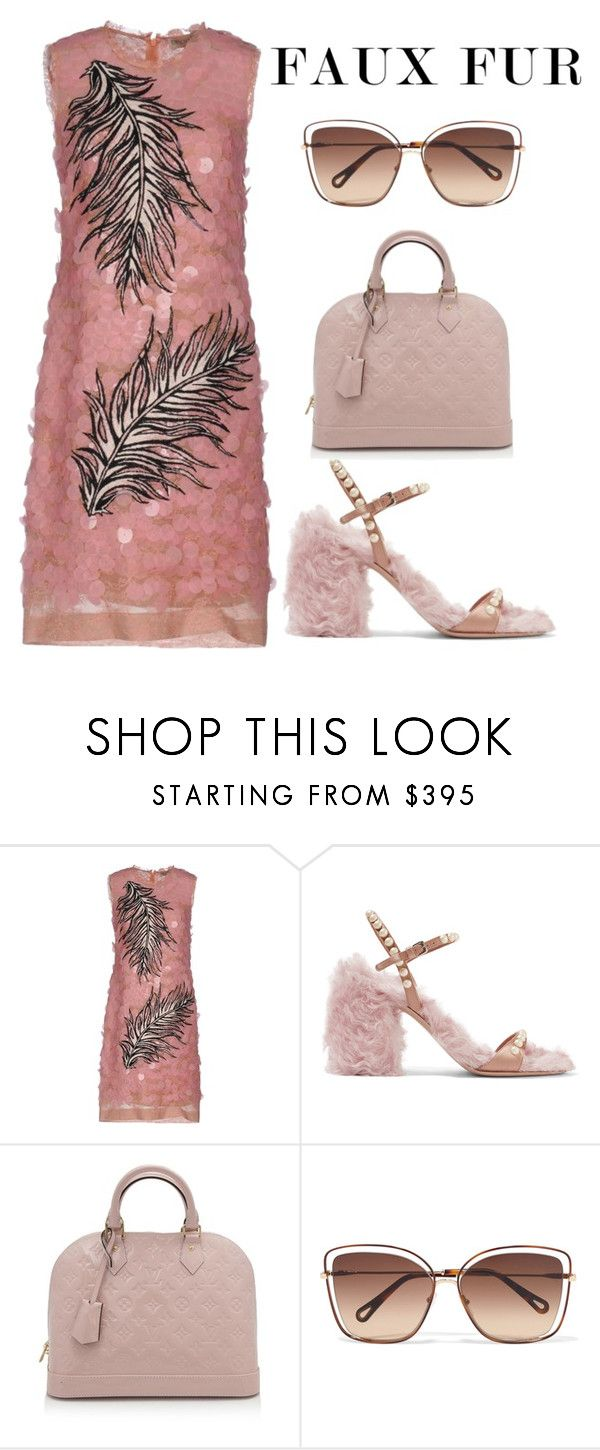 """""""Quartet"""" by london-cypress ❤ liked on Polyvore featuring Emilio Pucci, Miu Miu, Louis Vuitton, Chloé, emiliopucci, louisvuitton, miumiu, chloe and fauxfur"""