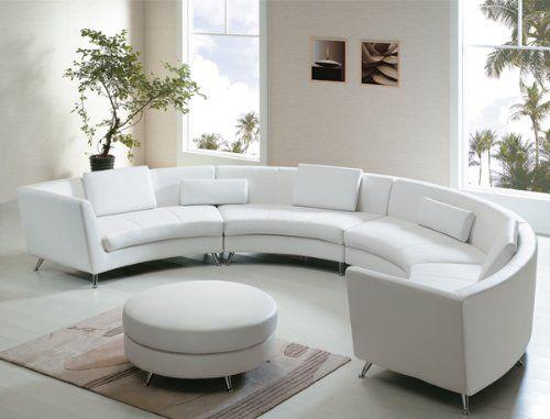 White Leather Sofa W Ottoman 5 Pillows 2500 00