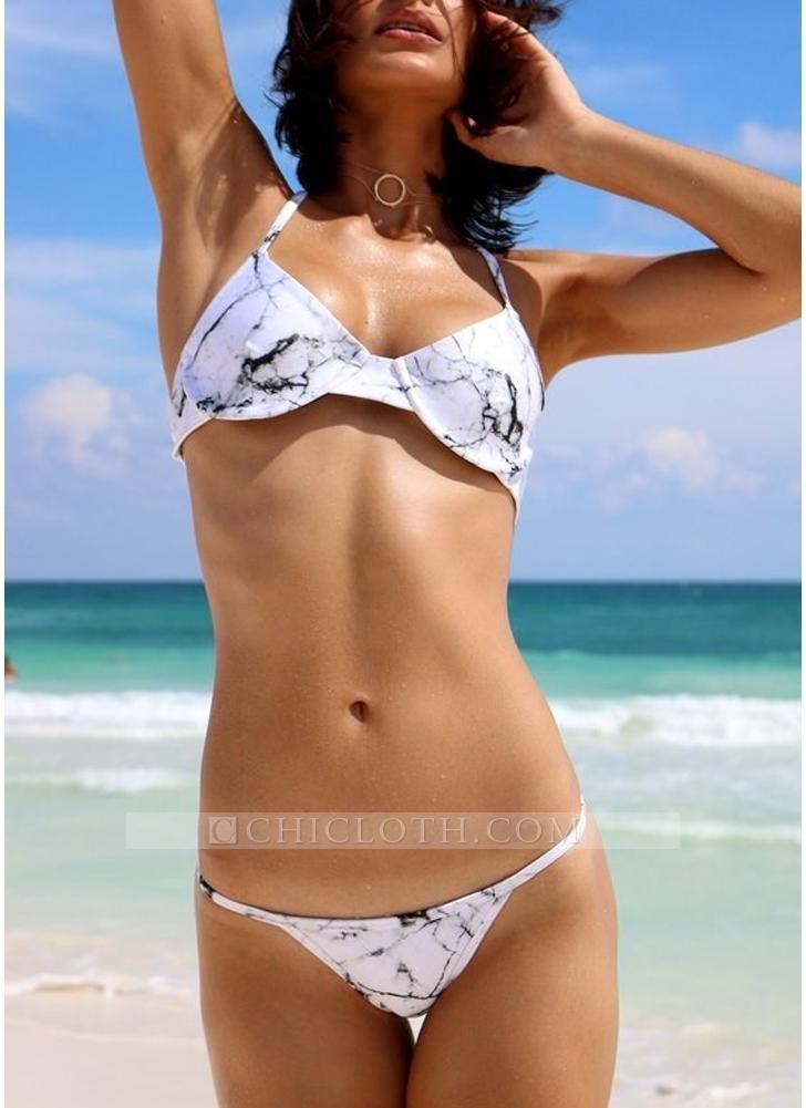 90ac33840fb14 Chicloth Bikini Set Padded Wire Support Bathing Suit Beach Swimwear Women  Floral Print