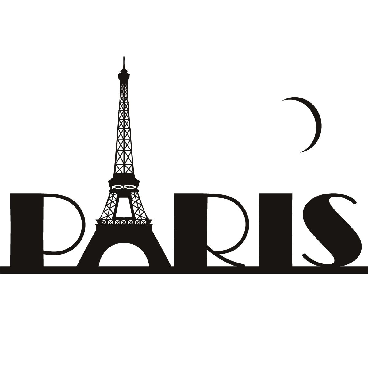 paris eiffel tower france wall art sticker wall decal transfers wall decals tower and france. Black Bedroom Furniture Sets. Home Design Ideas