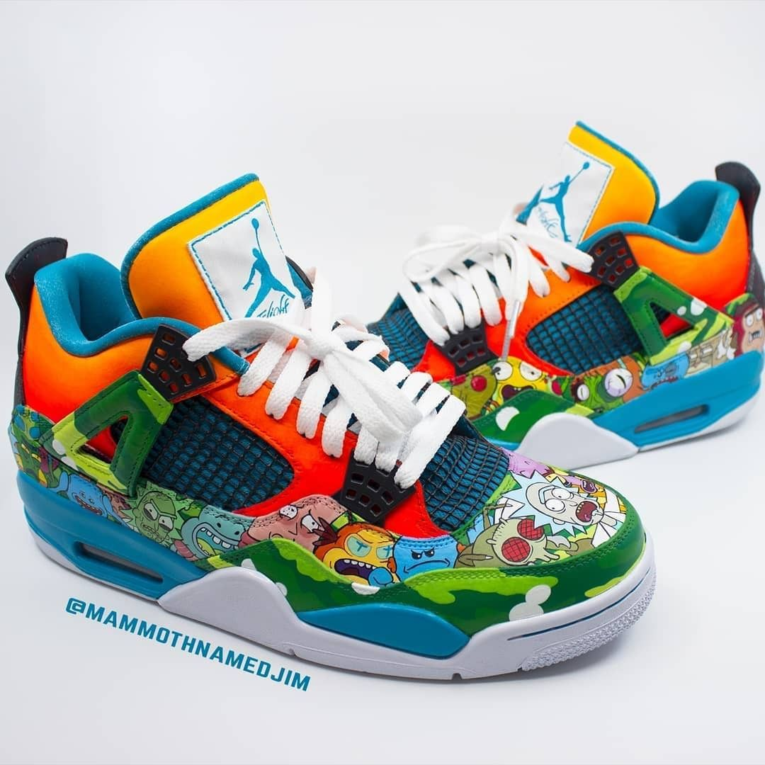 super popular 8dcd4 cc15b Rick and Morty Retro Jordan 4s✨ Customs made by  mammothnamedjim     Angelusdirect  rickandmorty  wubbalubba""