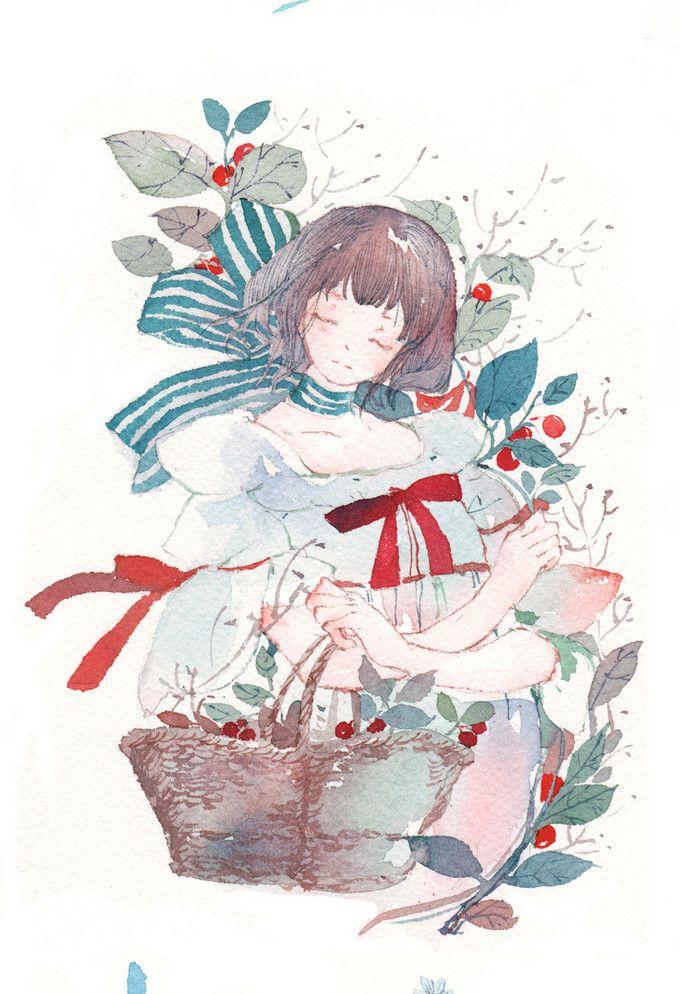 小图拂樱化剑寂羽诗蝉__涂鸦王国插画 Anime art, Cute art, Aesthetic anime