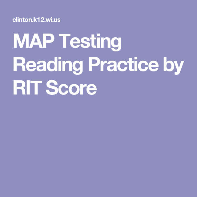 MAP Testing Reading Practice By RIT Score MAP Test Pinterest - Map testing