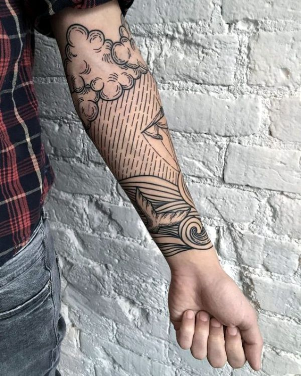 Photo of 40 No-Ordinary Line Tattoo Designs
