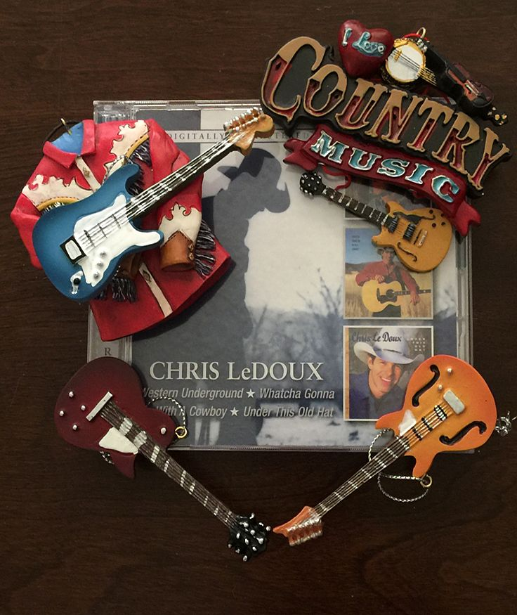 Country Music Christmas Ornaments and Chris LeDoux. Great combo - Country Music Christmas Ornaments And Chris LeDoux. Great Combo