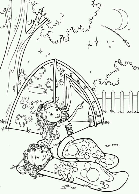Pin By Evelyn Villalobos On Printable Coloring Pages Girl Scout Camping Camping Coloring Pages Girl Scouts