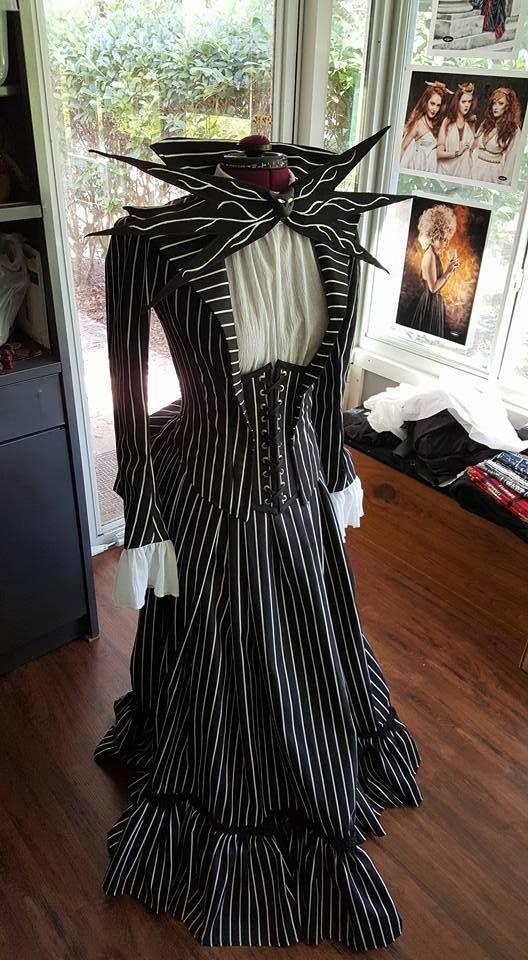 Nightmare before christmas inspired wedding dress