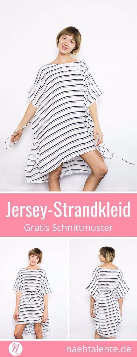 Einfaches Strandkleid   Strandkleid, Gratis schnittmuster ...