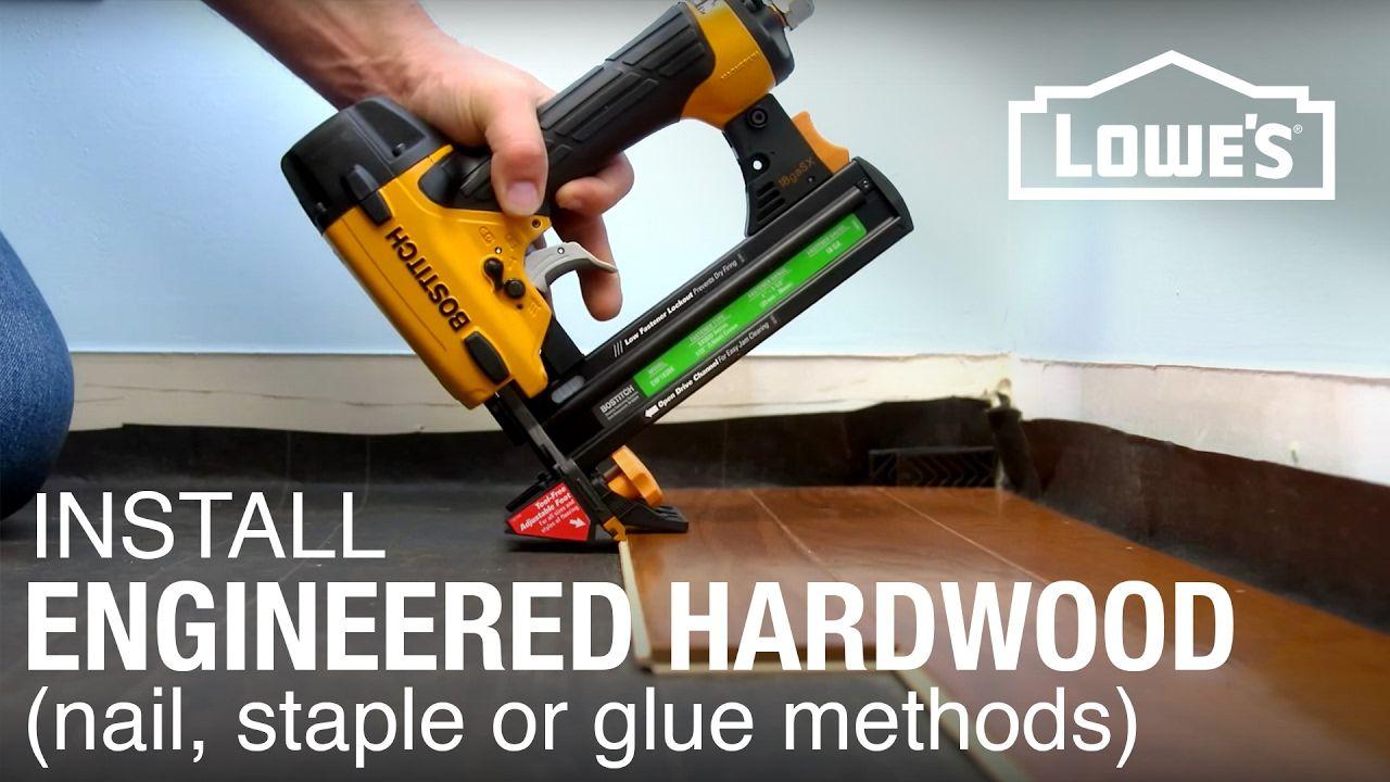 Engineered hardwood floor installation part 2 youtube
