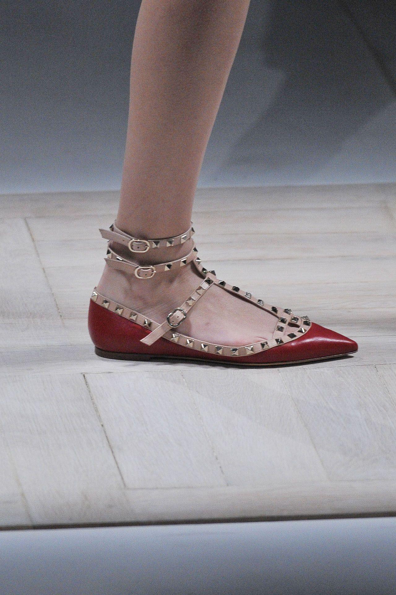 Valentino studded red flats - i'm