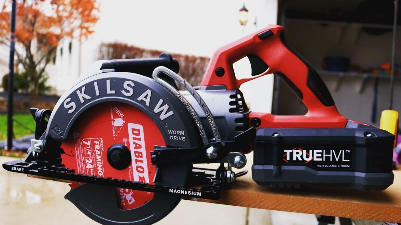 Skilsaw 7 1 4in Truehvl Cordless Worm Drive Circular Saw Full Review Skil Saw Worm Drive Worm Drive Circular Saw