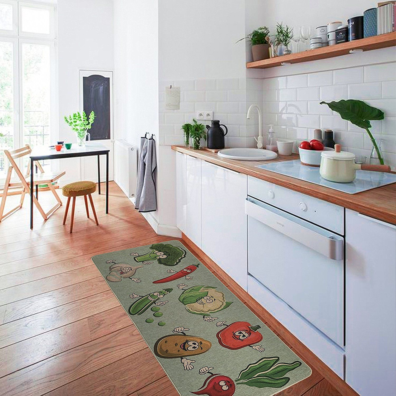 Nonslip Kitchen Mat Rug Polyester Kitchen Floor Mat Doormat Fiber Glamorous Kitchen Rug Design Inspiration
