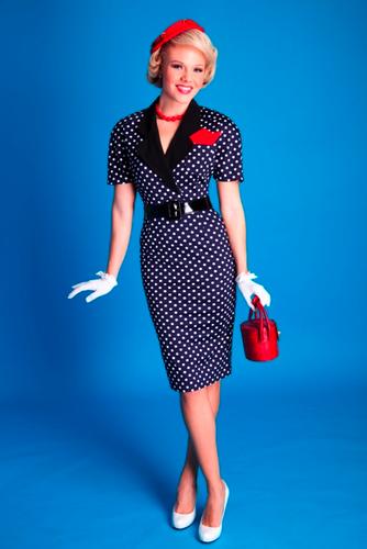 BETTIE PAGE LAURA PENCIL DRESS POLKA DOT 50s DRESS | I'd wear that ...