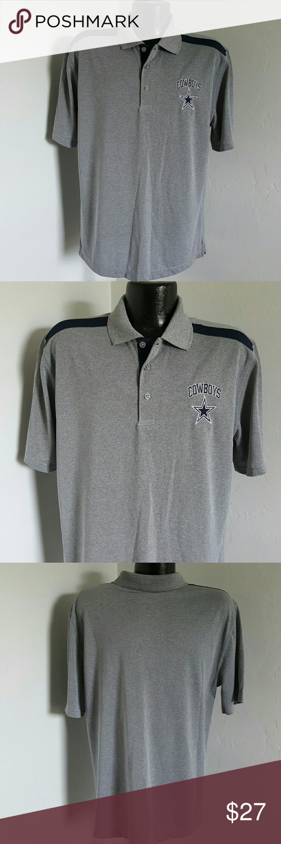 8aa816d1 Dallas Cowboys authentic men polo size L Good used condition ...