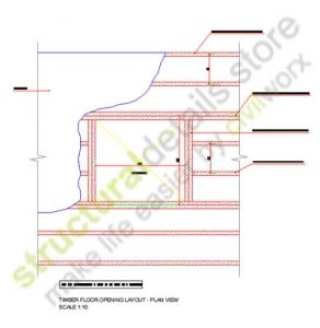 Timber Floor Opening Layout Plan View Double Trimmer Header