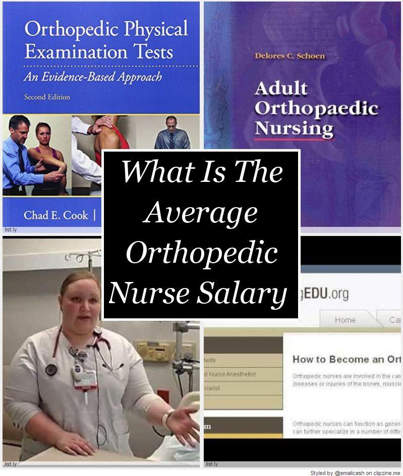 Orthopedic nursing is the sixth highest paid nursing
