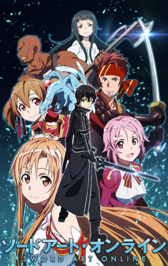 Sword Art Online Personnage : sword, online, personnage, Petite, Image, Personnages, Principaux, Première, Partie, Saison, Sword, Onli…, Online, Poster,, Kirito