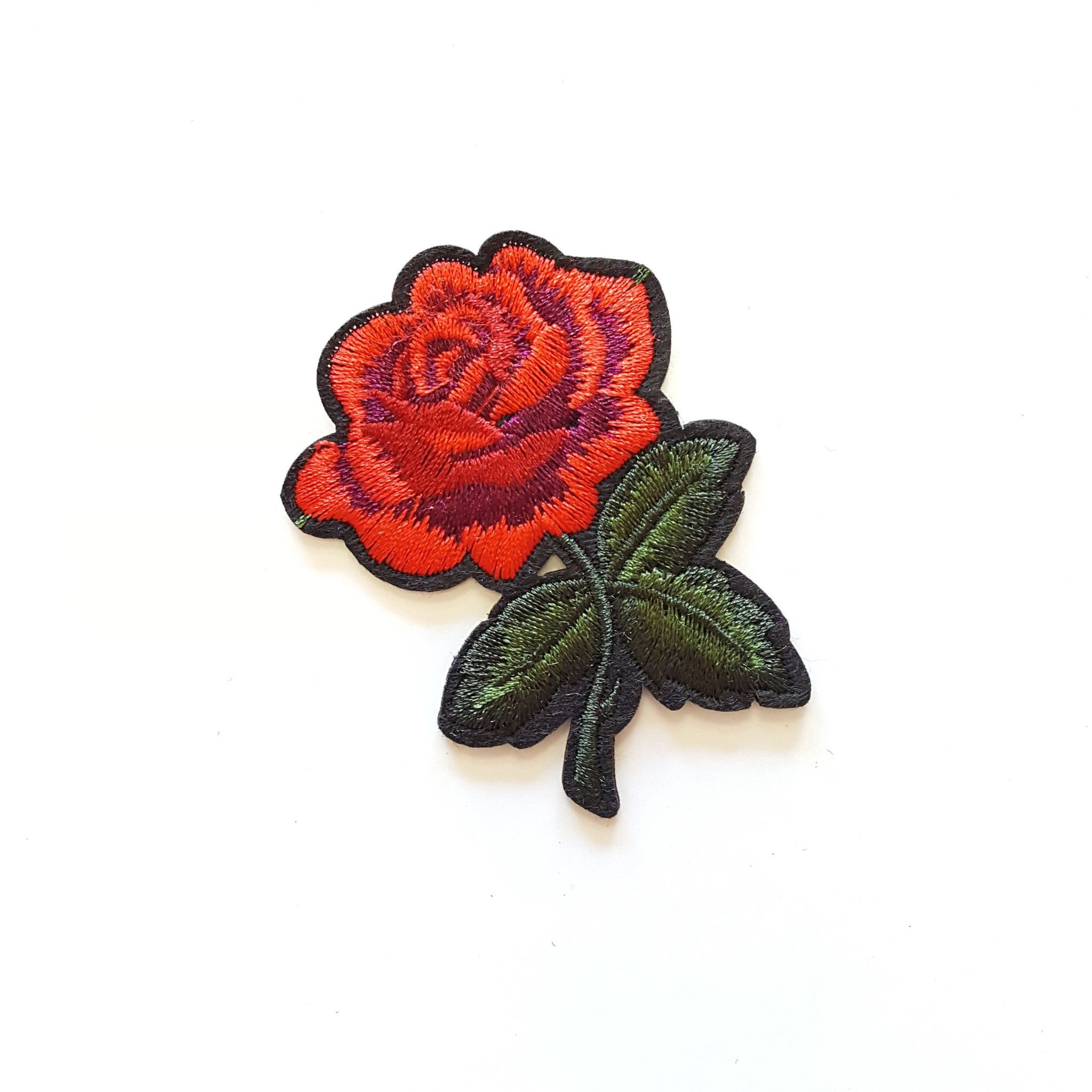 01aee8a461e61 Cute Small Red Rose Iron-On Patch | Snapchat Stickers | Diy patches ...