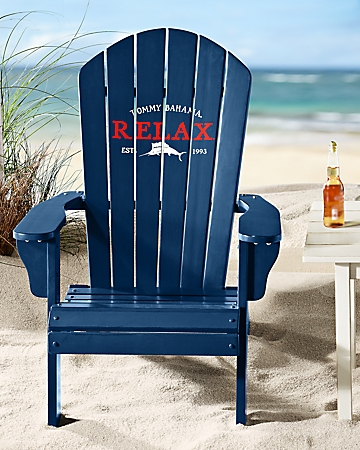 Tommy Bahama Deluxe Navy Adirondack Chair