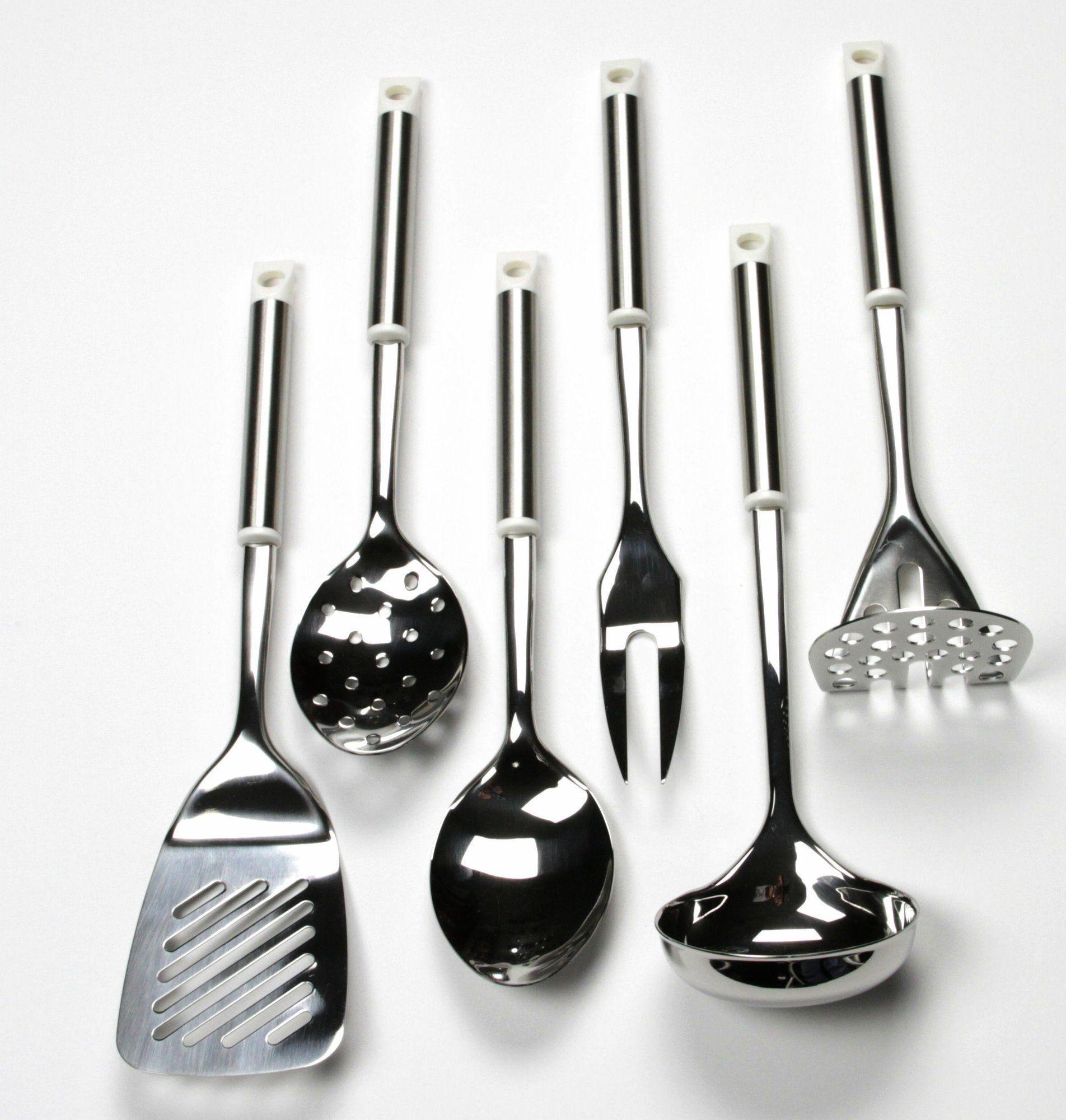 6 piece stainless steel kitchen utensil set kitchen