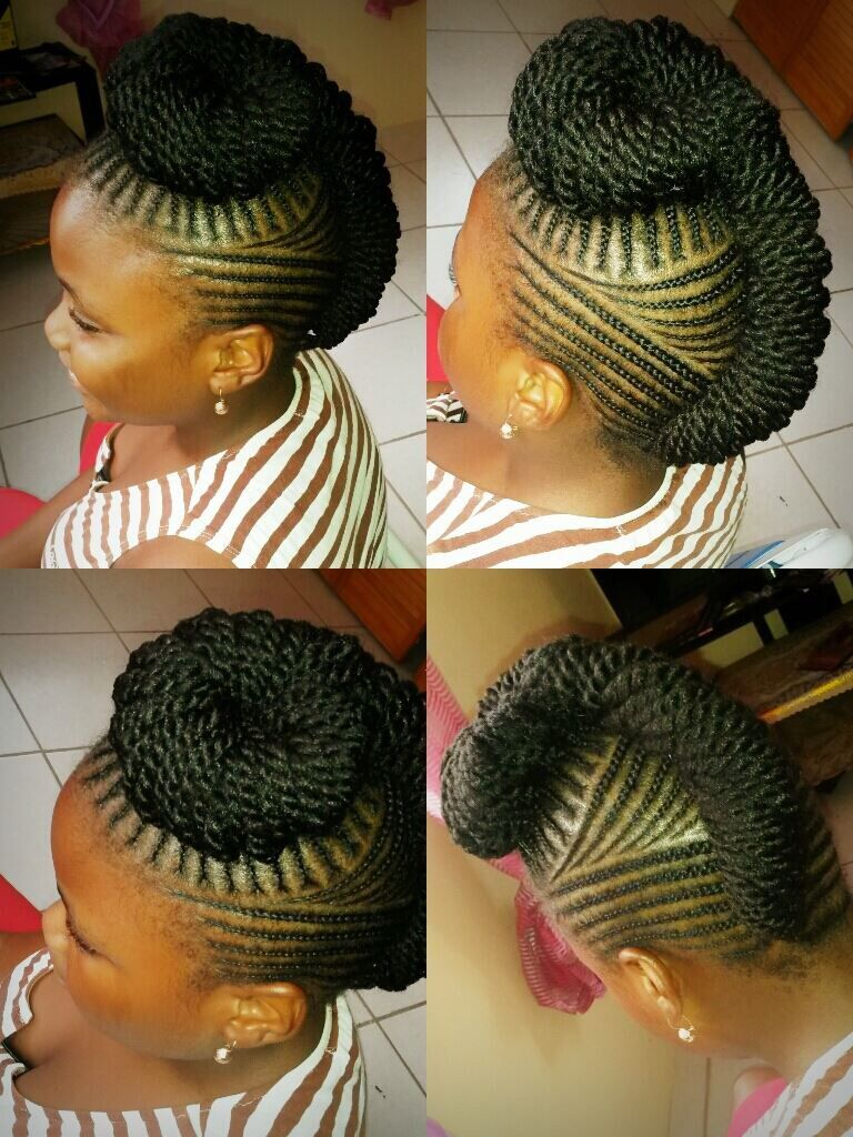 Natural braiding done by jalicia st kitts african fashion