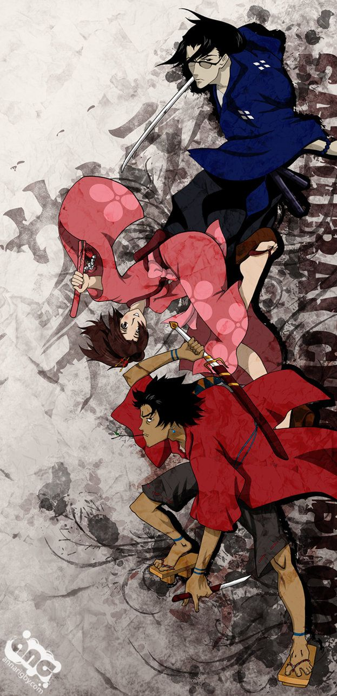 Samurai Champloo Poster By Cyzra On Deviantart Samurai Champloo Anime Anime Canvas