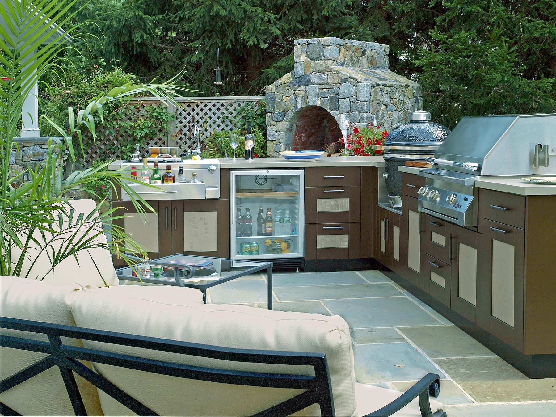 pizza oven | outdoor kitchen | Pinterest | Brown jordan, Kitchen ...