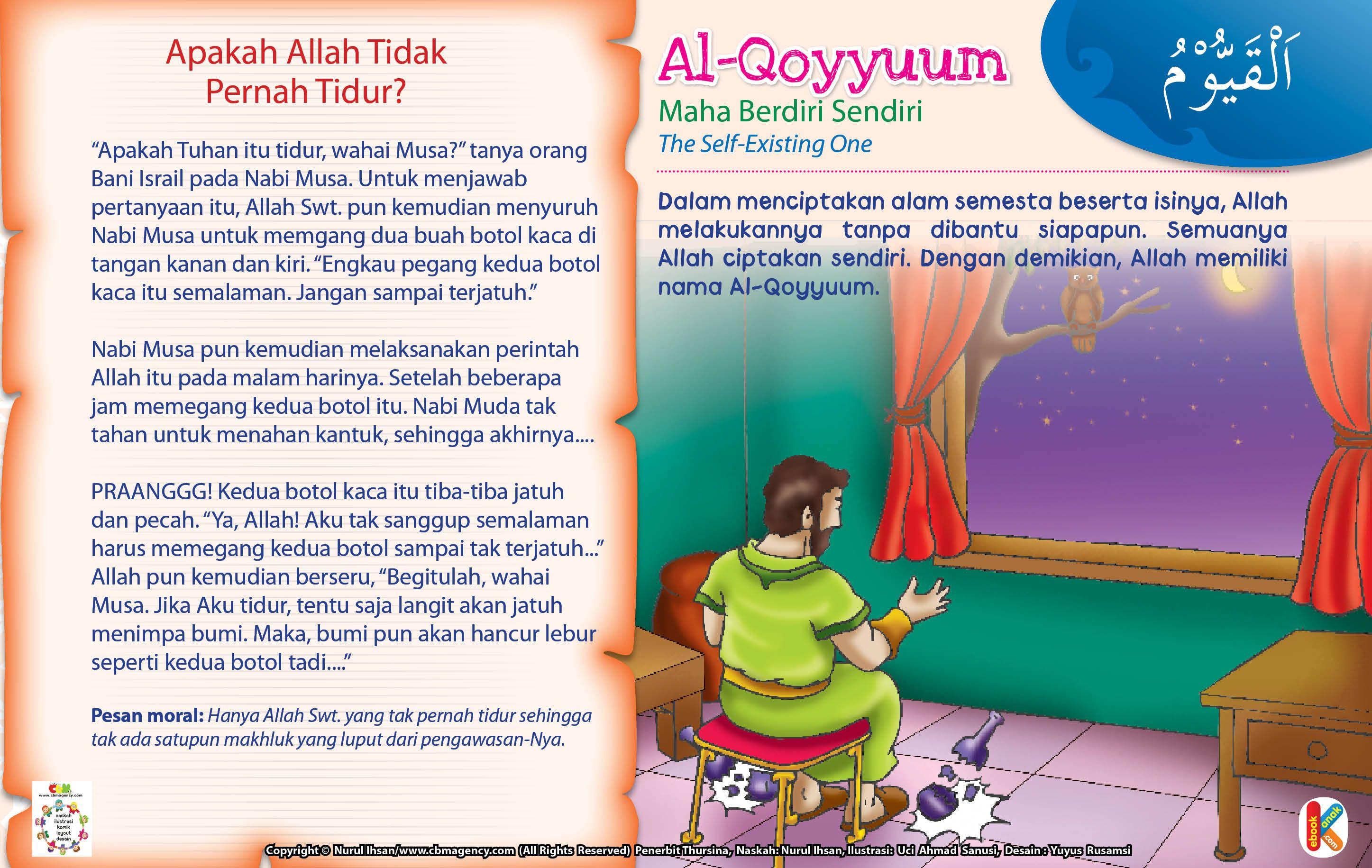 Kisah Asma'ul Husna AlQoyyuum Allah, Islam, Anak
