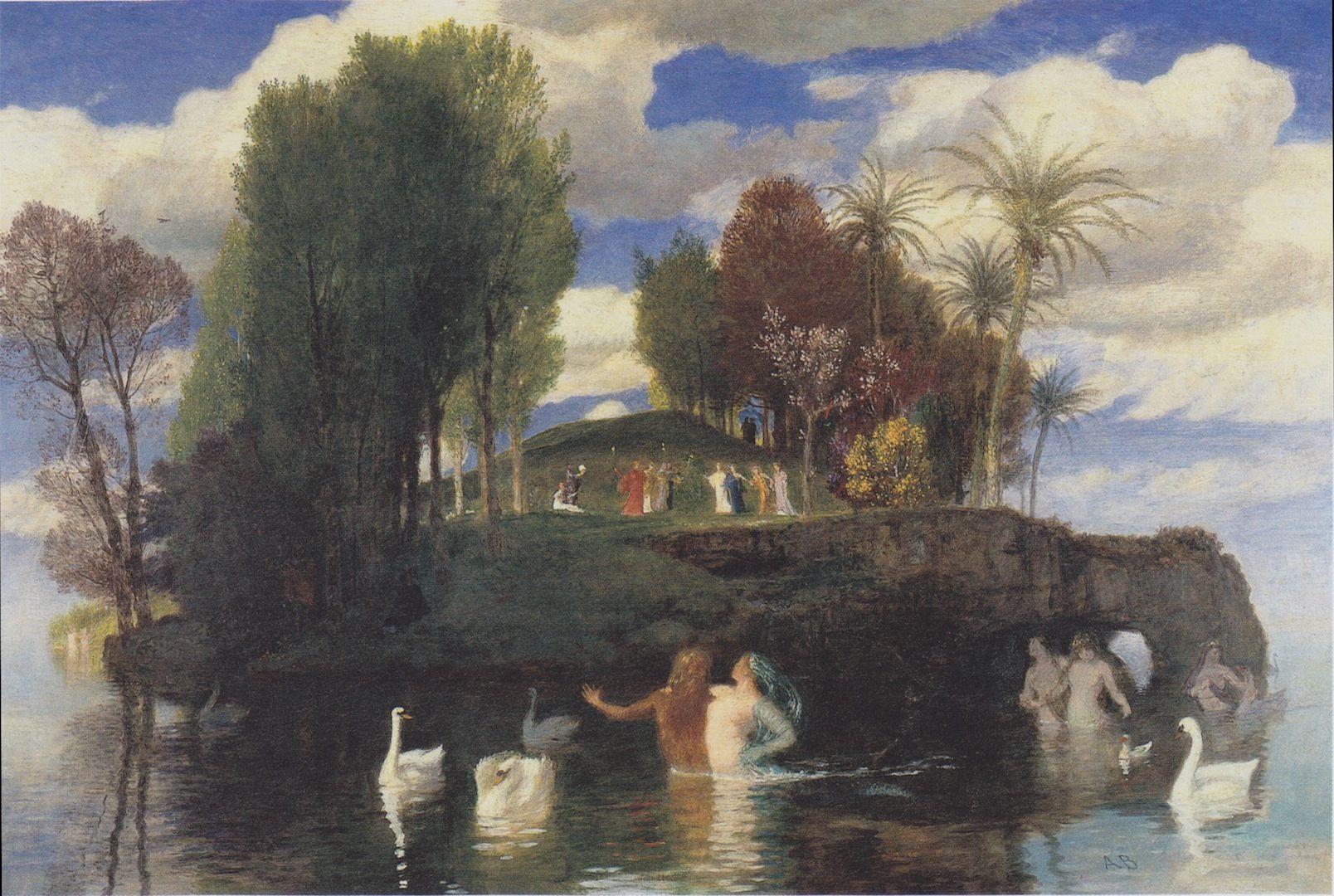 The Athenaeum - The Isle of Life (Arnold Böcklin - )