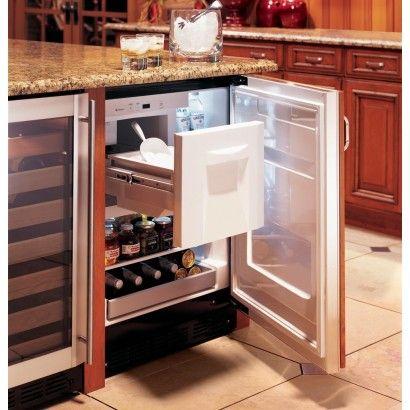 Zibs240hss Monogram 24 Undercounter Refrigerator Ice Maker Wine Shelf Stainless Steel Bar Refrigerator Kitchen Remodel Outdoor Kitchen Appliances
