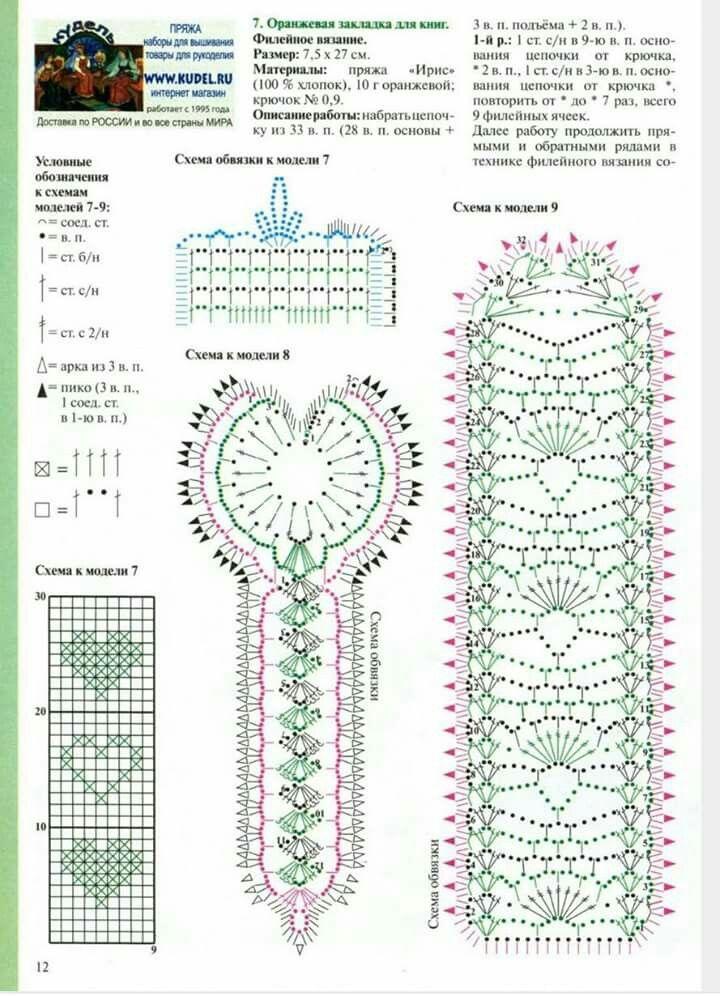 Segnalibro | Ganchillo | Pinterest | Crochet, Crochet bookmarks y ...
