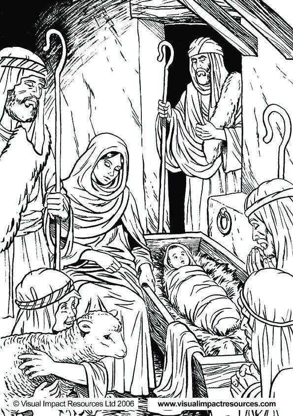 Pin By Joanna Lumanauw On Christmas Village Template Nativity Coloring Pages Nativity Coloring Christmas Coloring Pages