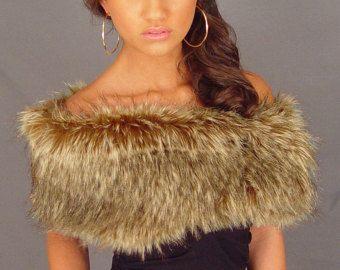 Faux Fur Wrap Shawl Shrug Stole Bridal Black Wedding Fw005 Regular Plus Size