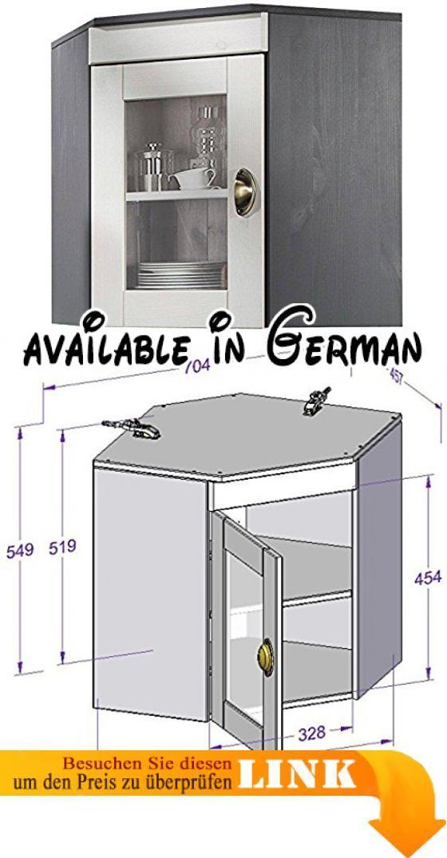 B01M63NRNM  TILO Eck-hängeschrank Küchenschrank Schrank Kiefer - küchenschrank mit glastüren
