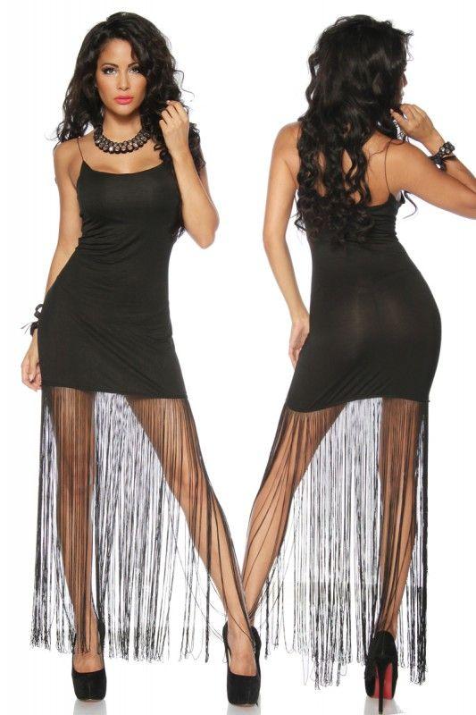 Party Tanz-Kleid mit Fransen - My-Kleidung Onlineshop | Kurze ...