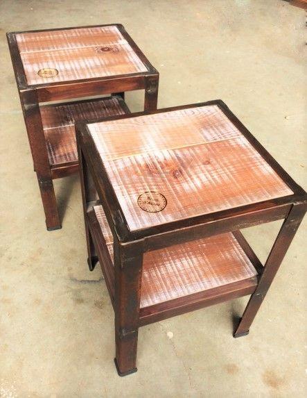 Tables de chevet style industriel #bois #acier #sur-mesure www ...