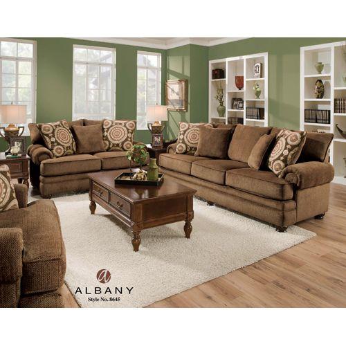 Twill Chocolate/Suma Sofa U0026 Loveseat Set By Albany Furniture. $1099.99  7dayfurniture.net