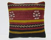 kilim pillow turkish pillow case 16x16 sofa pillow sham bohemian cushion interior designing sofa pillow case moroccan floor cushion 29727