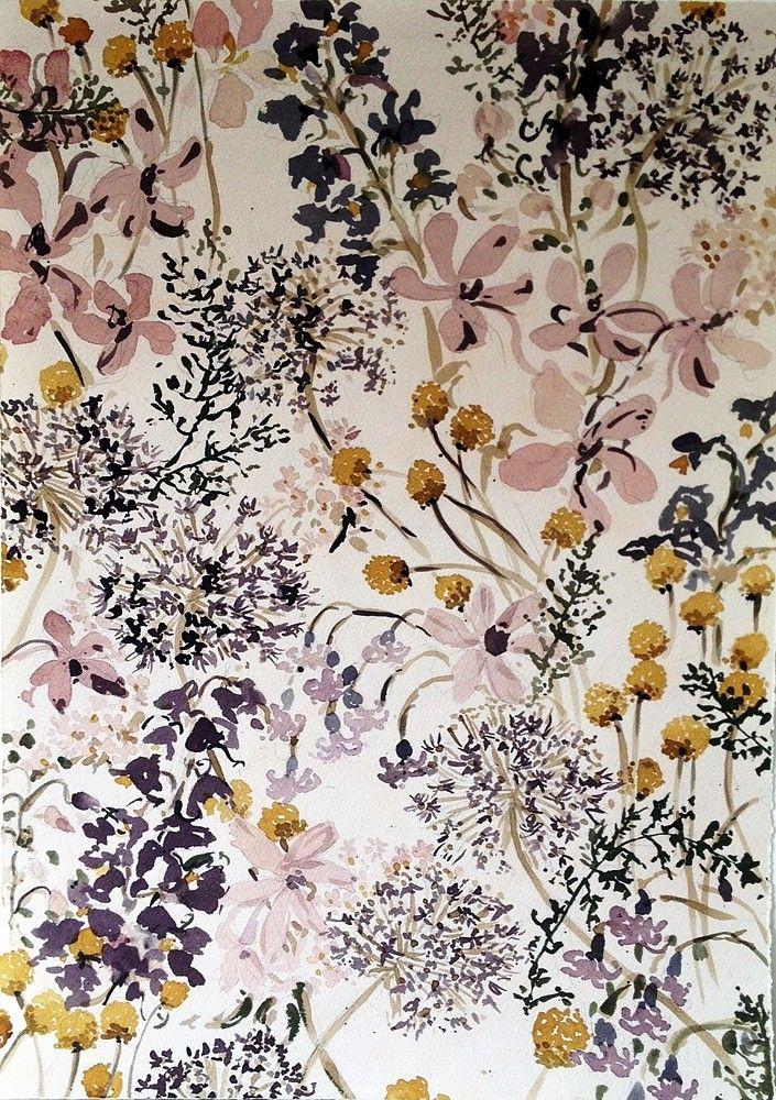 papier peint fleuri | Textures | Pinterest | Patterns, Flowers and ...