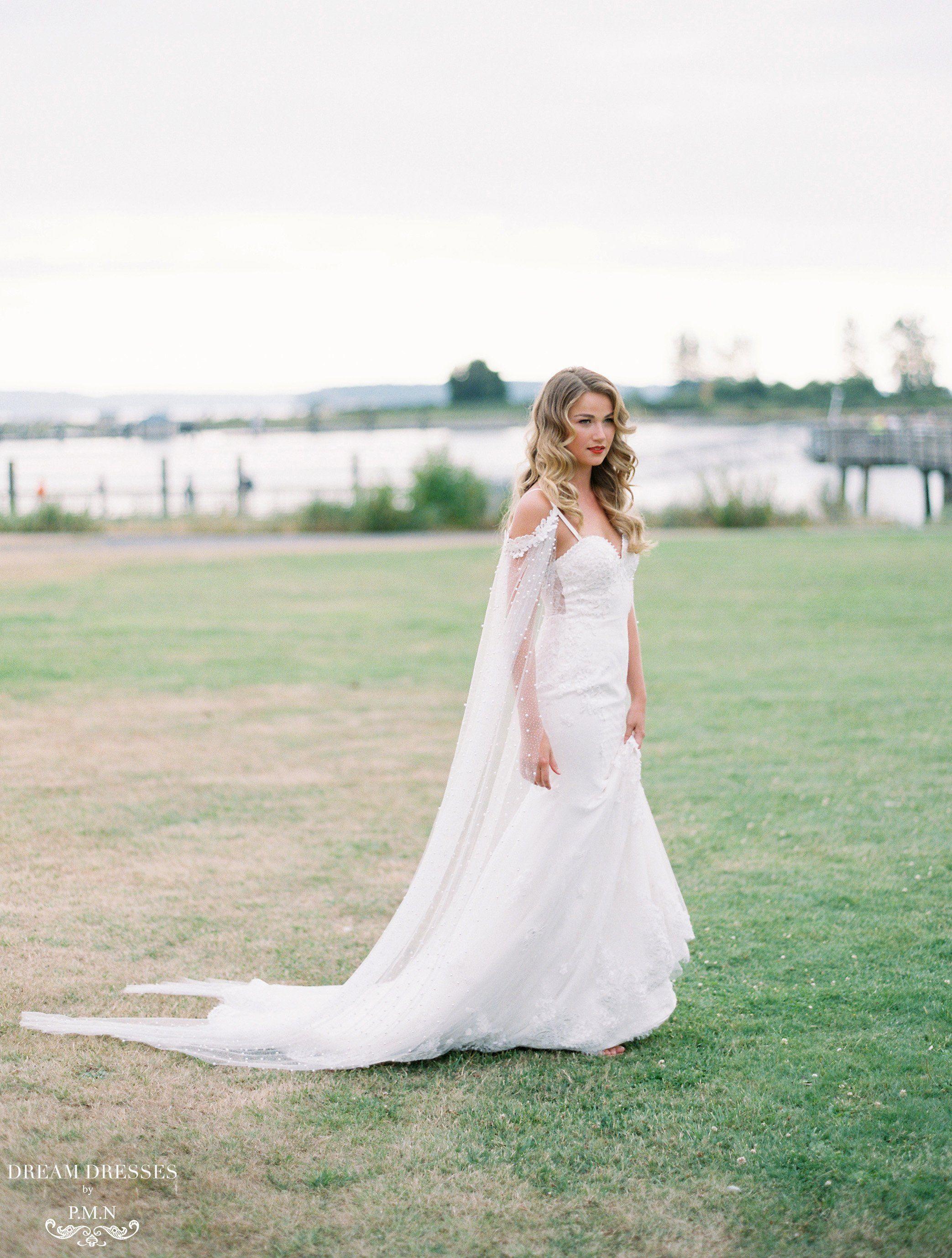 Lace mermaid wedding dress aceline wedding dresses pinterest