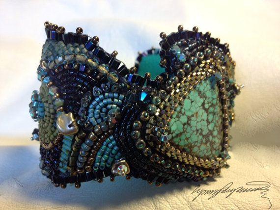 Bahama Flats ..... An Art Piece Bracelet / Cuff created by Lynn Parpard Of A Kind Art Piece
