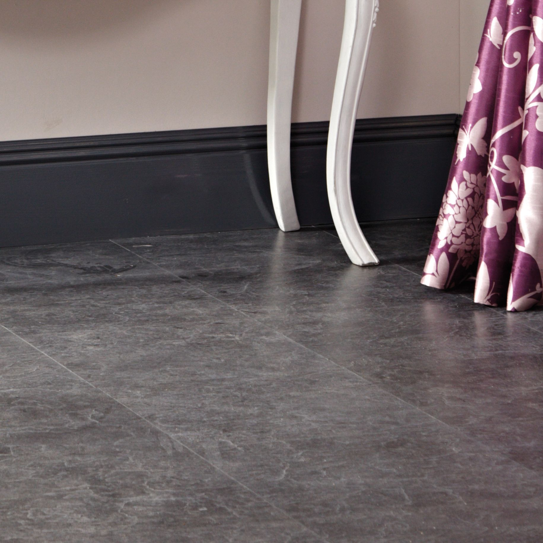 Tila Black Slate Tile Effect Laminate Flooring 1 m² Pack | Departments | DIY at B&Q