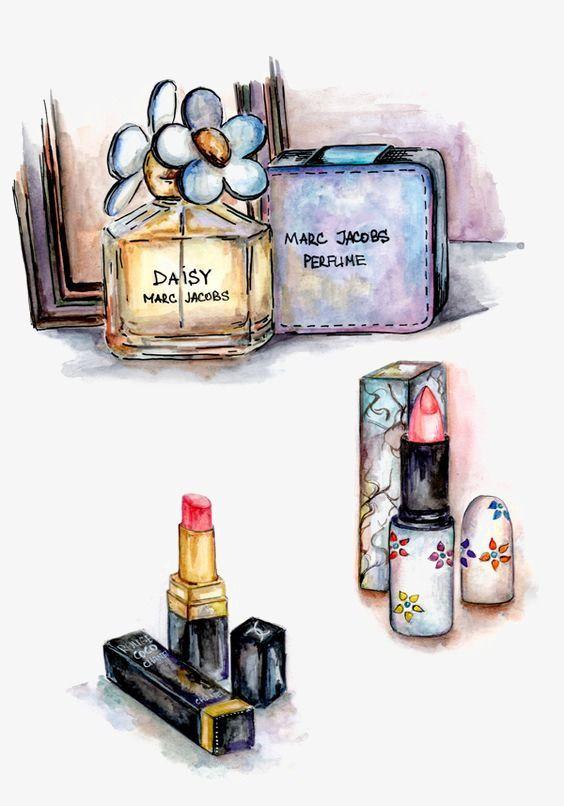 Makeup   Perfume, Beauty illustration, Makeup illustration