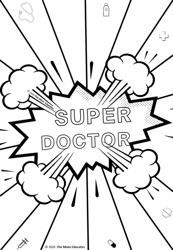 Free Colouring Sheets For Kids Doctors Nurses Nhs The Mum Educates In 2020 Coloring Sheets For Kids Free Coloring Sheets Coloring Sheets