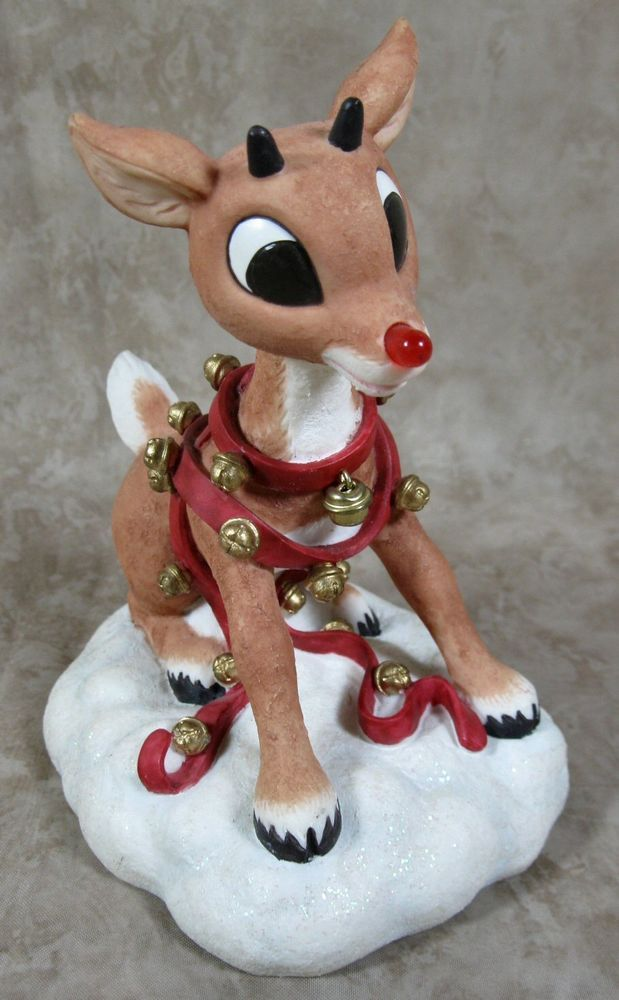 8a7d948d2 Rudolph the Red-Nosed Reindeer Light UP Holiday Figurine Enesco Christmas