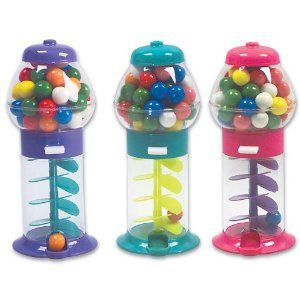 Gum ball machine design plastic favour decoration pieces perfect for parties!