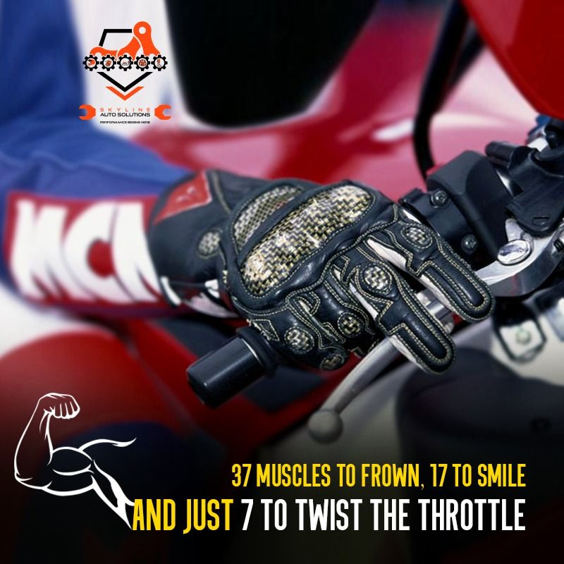37 muscles to frown 17 to smile and just 7 to twist the throttle. Choose Skyline Auto Solutions for a one stop point for your motorcycle maintenance & servicing. For Appointment Contact - 02025448703/ 8378969196  #skyline #SkylineAuto #SkylineAutoSolutions #bikeservicing #motorbikeservicing #servicecentre #bikeshop #loveforride #loveforbike #bikeporn #bikersofinstagram #bikersfamily #throttlesociety